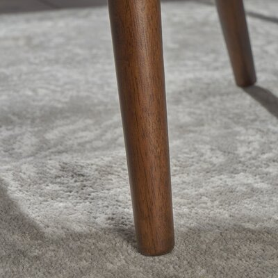 Lilyanna Mid-Century Fabric Walnut Upholstered Dining Chair