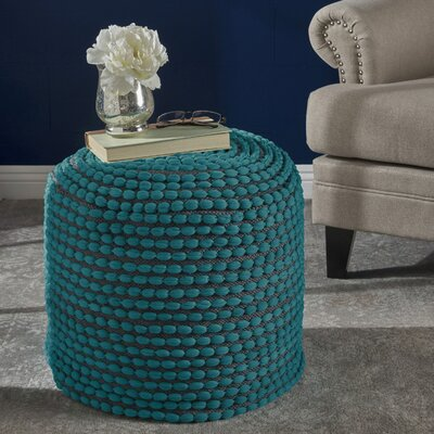 Cranmer Fabric Pouf Ottoman Upholstery: Turquoise