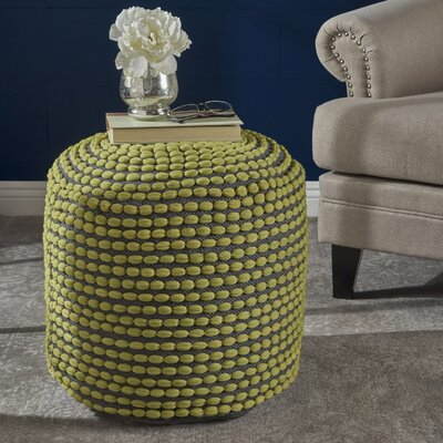 Cranmer Pouf Upholstery: Green