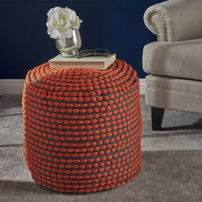 Cranmer Pouf Upholstery: Orange