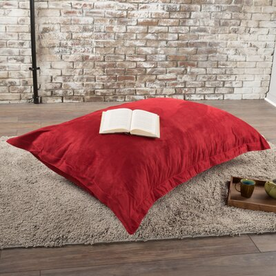 Chandler Bean Bag Chair Upholstery: Red