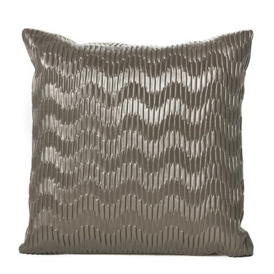 Everdeen Faux Leather Throw Pillow Color: Silver