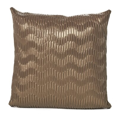 Everdeen Faux Leather Throw Pillow Color: Taupe