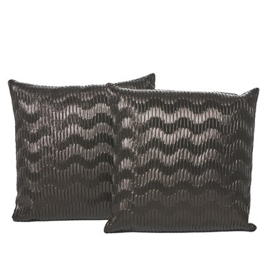Everdeen Faux Leather Throw Pillow Color: Black