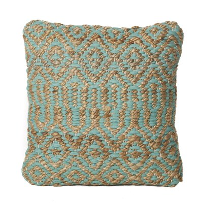 Chun Throw Pillow Color: Aqua