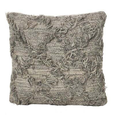 Liles Wool Throw Pillow Color: Gray/Beige
