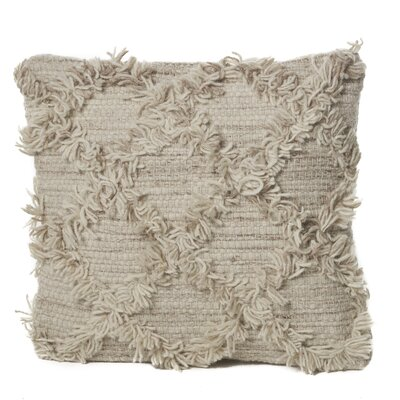 Liles Wool Throw Pillow Color: Ivory/Beige