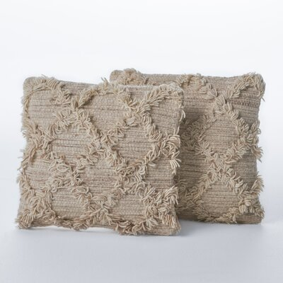 Liles Wool Throw Pillow Color: Ivory