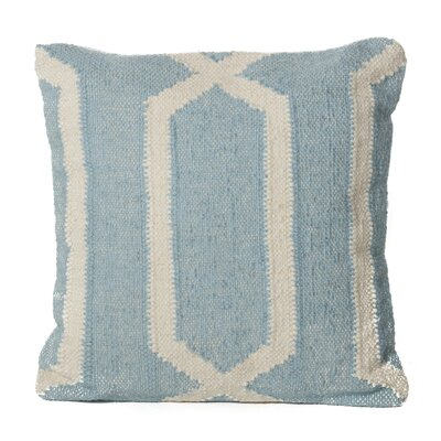 Lillard Wool Throw Pillow Color: Light Blue