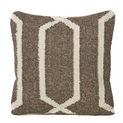 Lillard Wool Throw Pillow Color: Linen