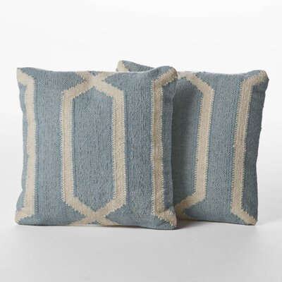 Centerburg Wool Throw Pillow Color: Light Blue