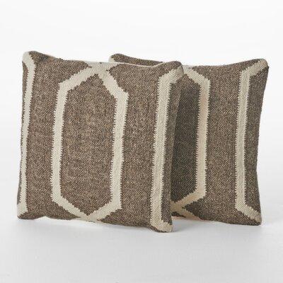 Centerburg Wool Throw Pillow Color: Linen