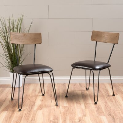 Boville Wood Side Chair Color: Brown