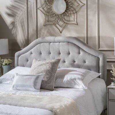Lexi Queen Upholstered Panel Headboard Upholstery: Light Grey