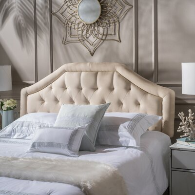 Lexi Queen Upholstered Panel Headboard Upholstery: Beige