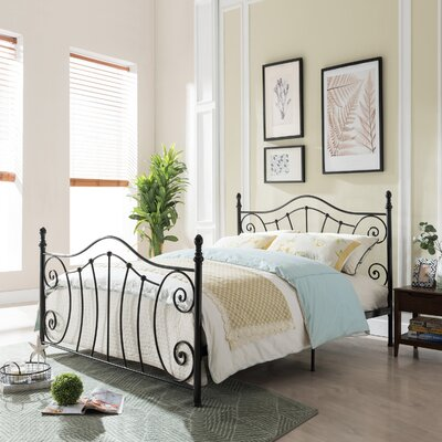 Trombley Queen Panel Bed Color: Matte Black