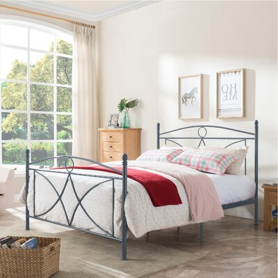 Lukas Queen Panel Bed Color: Matte Dark Gray