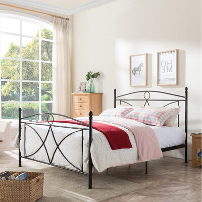Lukas Queen Panel Bed Color: Matte Black