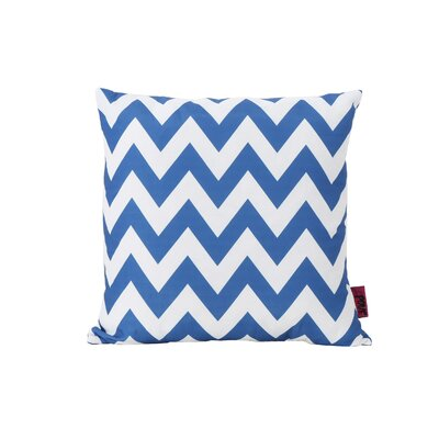 Mayhew Outdoor Throw Pillow Color: Blue