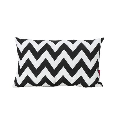 Mayhew Rectangular Outdoor Lumbar Pillow Color: Black/White