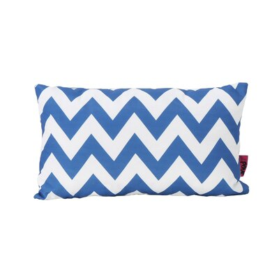 Mayhew Rectangular Outdoor Lumbar Pillow Color: Blue/White