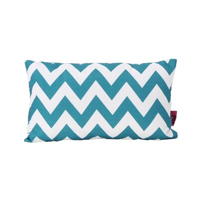Mayhew Rectangular Outdoor Lumbar Pillow Color: Dark Teal/White