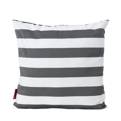 Mayle Square Striped Indoor/Outdoor Throw Pillow Color: Black