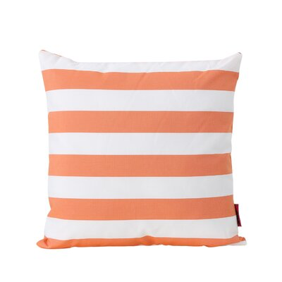Dunecrest Outdoor Pillow Color: Orange/White