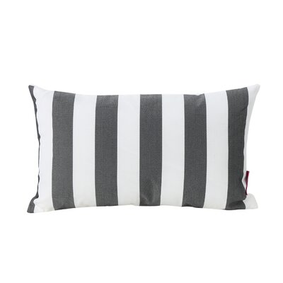 Mayne Rectangular Striped Outdoor Lumbar Pillow Color: Black and White