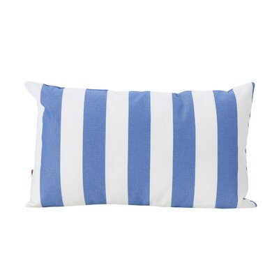 Mayne Rectangular Striped Outdoor Lumbar Pillow Color: Blue and White