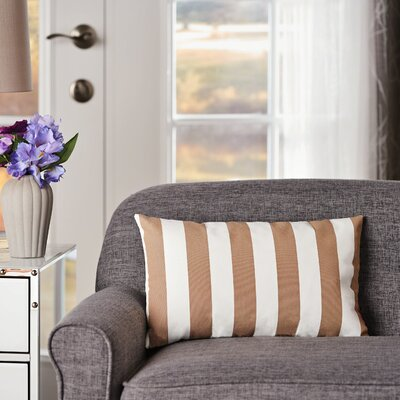 Mayle Rectangular Striped Indoor/Outdoor Lumbar Pillow Color: Brown