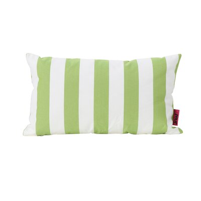 Dunecrest Outdoor Pillow Color: Green/White
