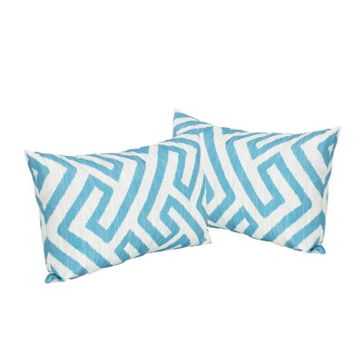 Swinford Geometric Rectangular Outdoor Lumbar Pillow