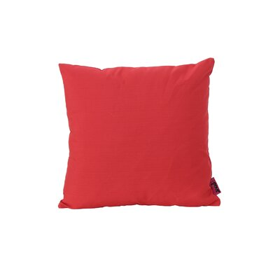 Mayne Water Resistant Square Outdoor Throw Pillow Color: Red
