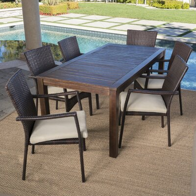 Stunning Wood Wicker Dining Set Product Photo