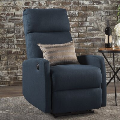 Deedee Power Recliner Color: Navy Blue