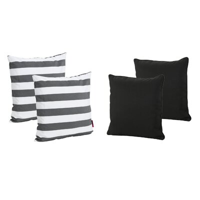 Dunecrest Outdoor Throw Pillow Color: Black