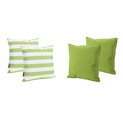 Dunecrest Outdoor Throw Pillow Color: Green