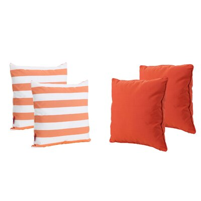 Dunecrest Outdoor Throw Pillow Color: Orange