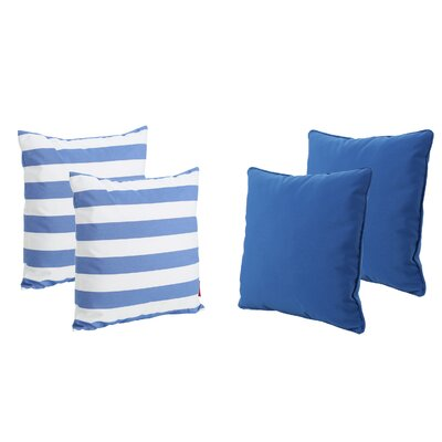 Dunecrest Outdoor Throw Pillow Color: Blue