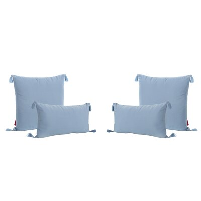 Coulter Tasseled Outdoor Pillow Color: Light Blue