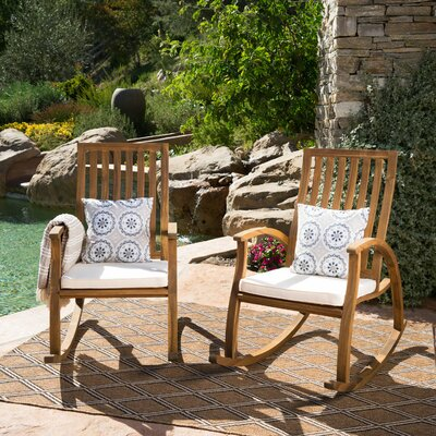 Morais Outdoor Rocking Chair with Cushions