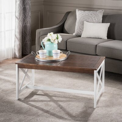 Manorhaven Coffee Table Color: White/Brown