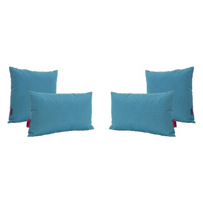 Chou Outdoor 4 Piece Throw Pillow Set