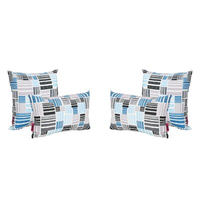 Mcinnis Outdoor 4 Piece Throw Pillow Set