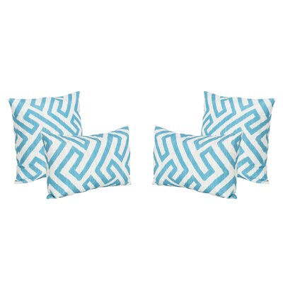 Mcintire Outdoor 4 Piece Throw Pillow Set