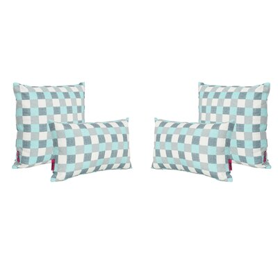 Mciver Outdoor 4 Piece Throw Pillow Set
