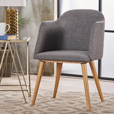 Newington Upholstered Dining Chair Upholstery Color: Light Gray