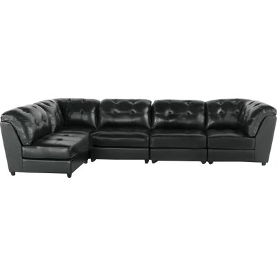 Zild Sectional Collection Upholstery: Black