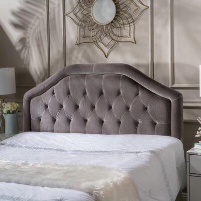 Lexi Queen Upholstered Panel Headboard Upholstery: Grey